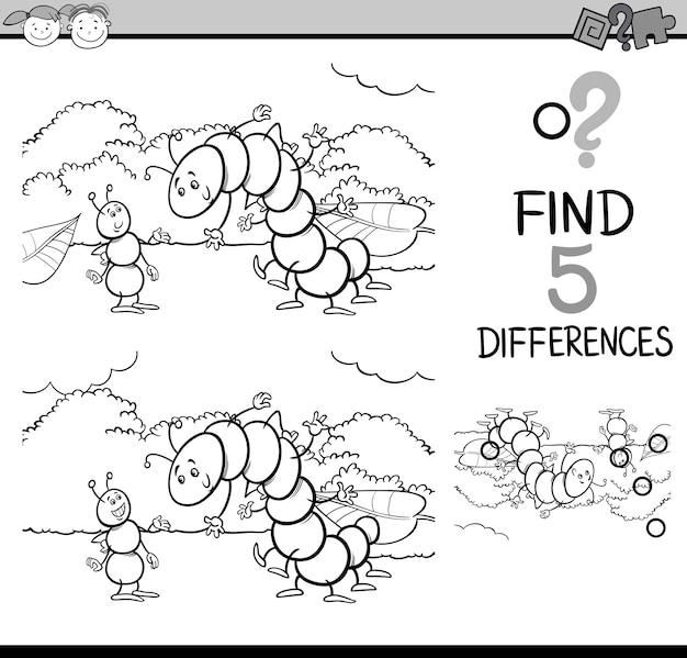 Tâche de différences pour la coloration