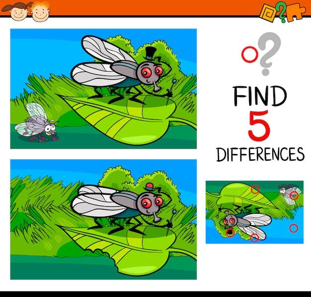 Tâche de différences pour l'enfant