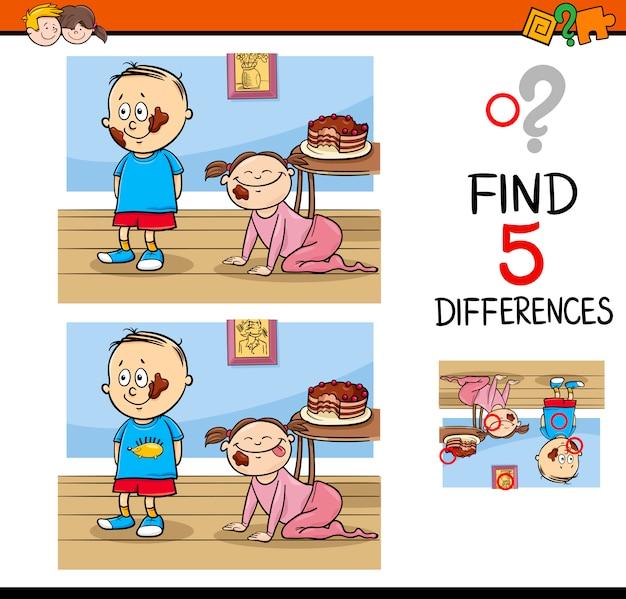Tâche de différences pour les enfants
