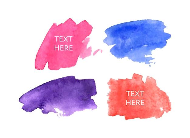 Tache d'encre aquarelle. définir le coup de pinceau sur la texture du papier.