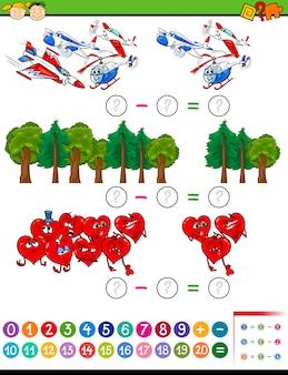 Tâche mathématique de dessin animé pour les enfants