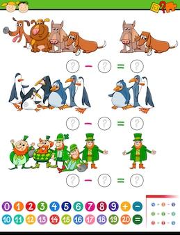 Tâche mathématique pour les enfants d'âge préscolaire