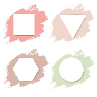 Tache pastel avec affiche blanche