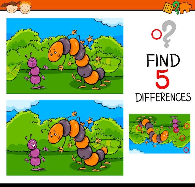 Tâche préscolaire des différences