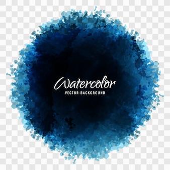 Tache ronde aquarelle bleue