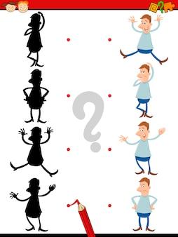 Tâche de silhouette pour les enfants d'âge préscolaire