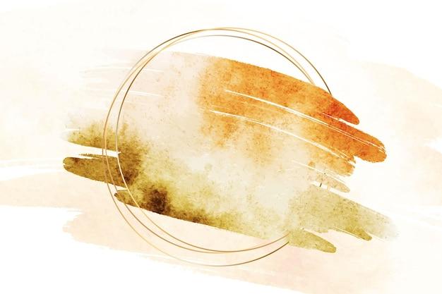 Tache de style aquarelle avec cadre circulaire