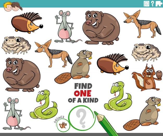 Une tâche unique pour les enfants avec des animaux