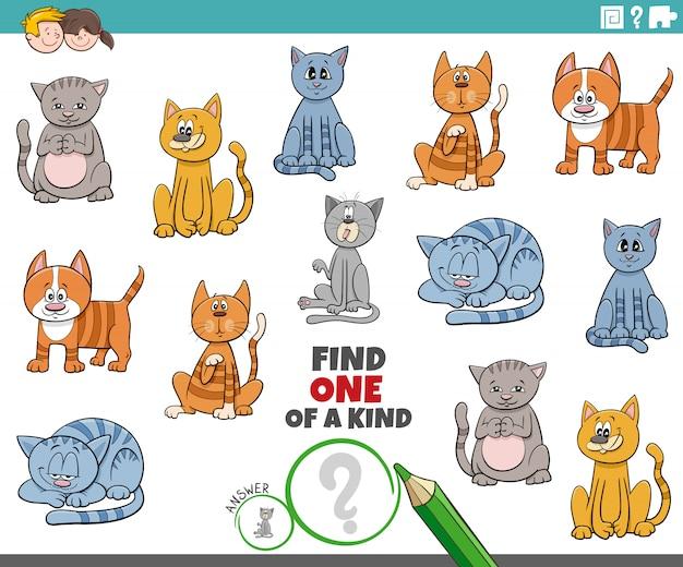 Une tâche unique pour les enfants avec des chats