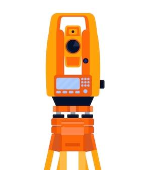 Tachéomètre, théodolite, équipement géodésique, instrument de mesure.