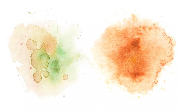 Taches d'aquarelle, abstrait.