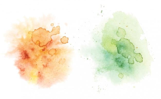 Taches d'aquarelle, aquarelle abstraite