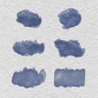 Taches d'aquarelle sur papier recyclé
