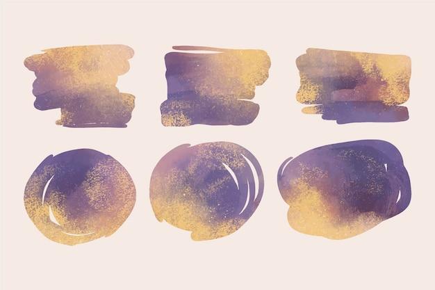 Taches d'aquarelle peintes à la main