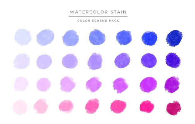 Taches aquarelles colorées