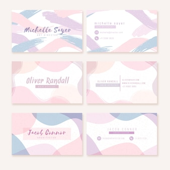 Taches de couleur pastel sur carte de visite