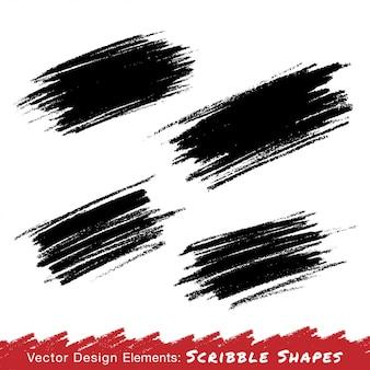 Taches de gribouillis colorés dessinés à la main au crayon. illustration