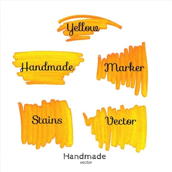 Taches jaunes de marqueur