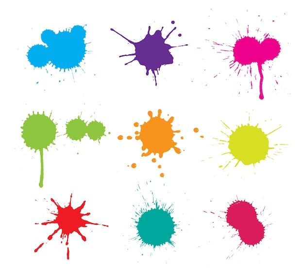 Taches De Peinture Collection Vecteur gratuit