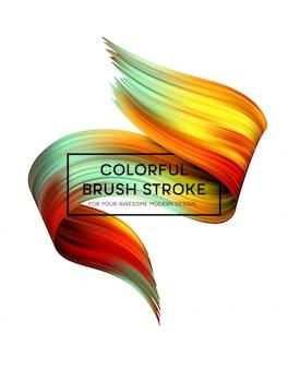 Taches de peinture de couleur vive