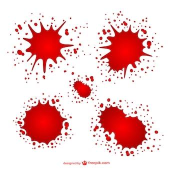 Des taches de sang mis en
