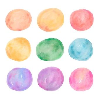 Taches et traits abstraits à l'aquarelle