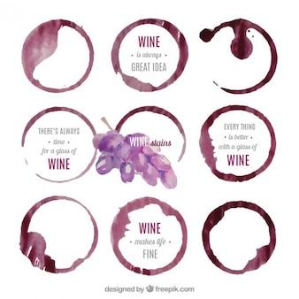Les taches de vin