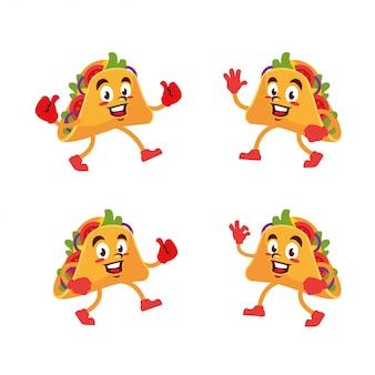 Taco délicieux personnage de dessin animé mignon