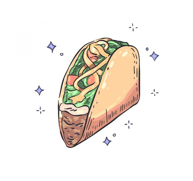 Tacos doodle