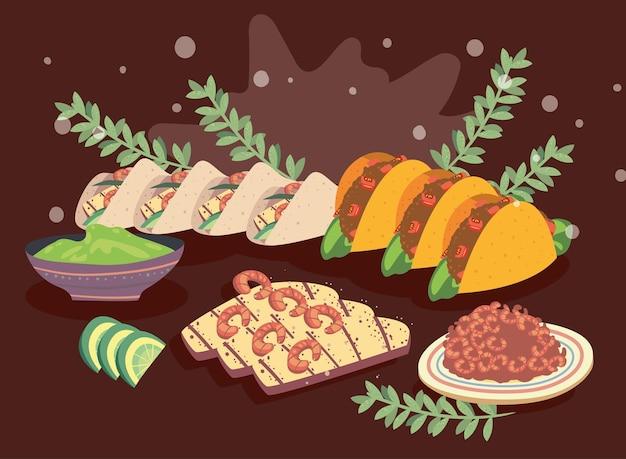 Tacos et guacamole