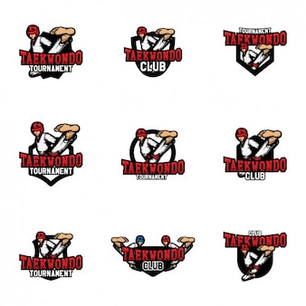 Taekwondo logo modèles de conception