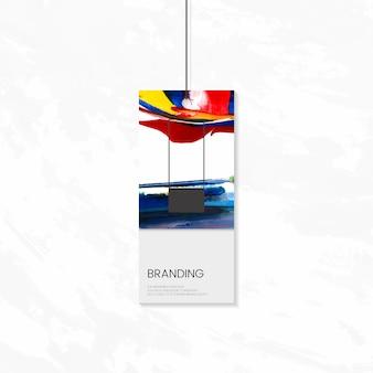 Tag branding avec un vecteur de dessin abstrait