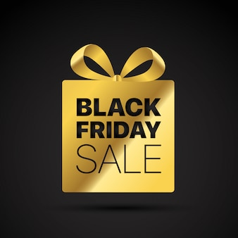 Tag shopping noir doré vendredi.