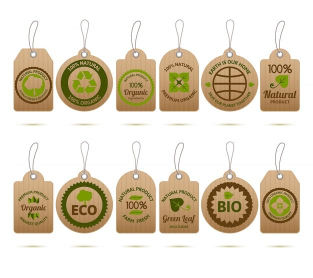Tags de carton d'écologie