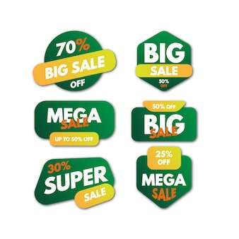 Tags promotion super vente couleurs vertes