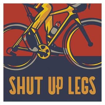 Tais-toi affiche de jambes