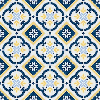 Talavera mexicaine, motif de carreaux vintage