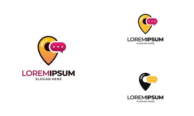 Talk point logo conçoit l'illustration vectorielle de concept, consulting logo conçoit l'icône de symbole de modèle de concept