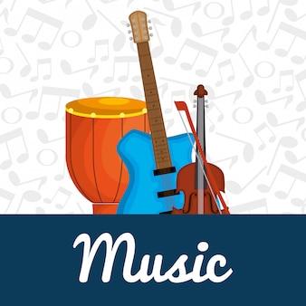 Tambour bongo avec instruments