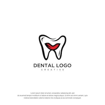 Tamplate de conception de logo dentaire vetor