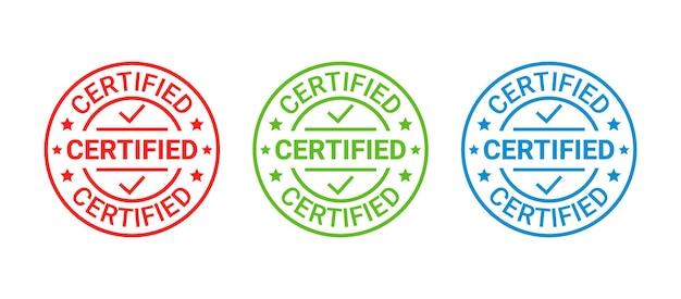 Tampon en caoutchouc certifié. approbation du label de qualité. insigne rétro à carreaux. étiquette de garantie. illustration vintage