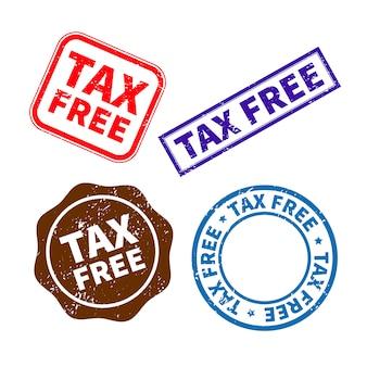 Tampon en caoutchouc libre d'impôt