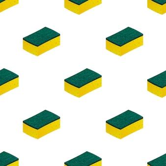 Tampons à récurer éponge pour le nettoyage des tâches ménagères. illustration vectorielle de stock.