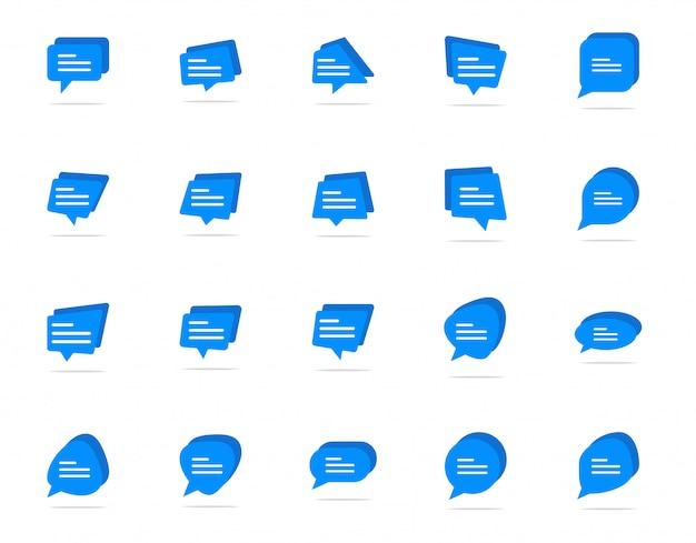 Taper une icône de bulle de chat, symbole de signe de commentaire