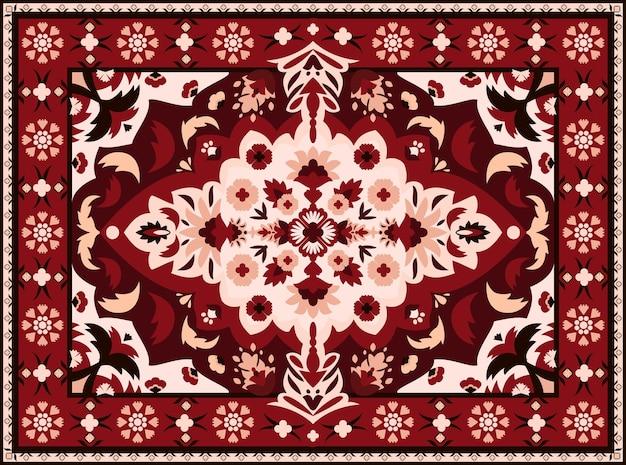 Tapis indien. conception de tapis textile persan, motif arabesque royal pour broderie orientale vintage. tissu de luxe ethnique de vecteur pour l'intérieur avec ornement royal de texture géométrique
