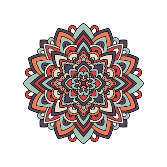 Tapis d'ornement tribal motif mandala