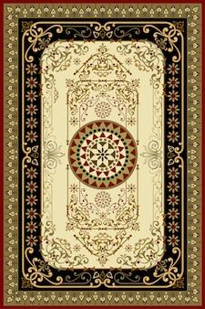 Tapis Turc Oriental Persan Prêt Pour La Production Vecteur Premium