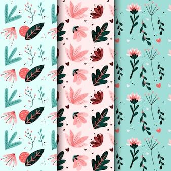 Tapisserie murale avec des fleurs de fleurs de printemps dessinées à la main