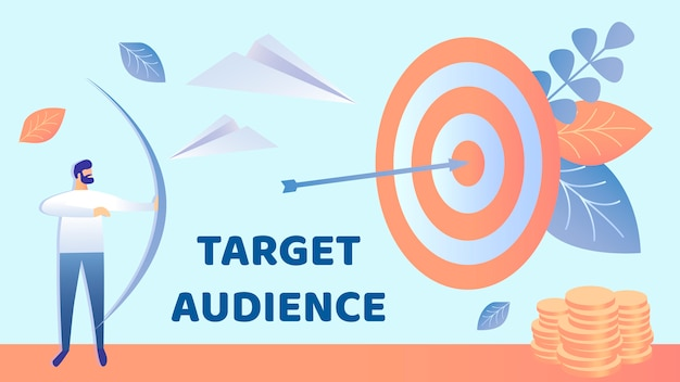 Target marketing, illustration vectorielle audience