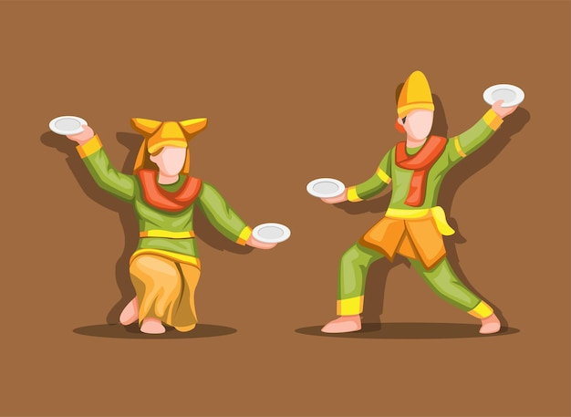 Tarian piring aka plate dance est une danse traditionnelle du minangkabau.